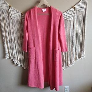 Lularoe Sarah Pink Carly Cardigan Duster Sweater